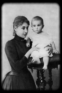 М. Ф. Андреева с сыном Юрием. 1889 г.