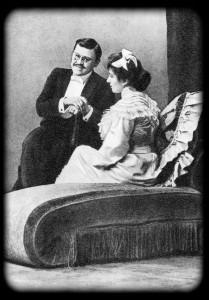 Браун — И. М. Москвин, Кете — М. Ф. Андреева. «Одинокие» Г. Гауптмана. МХТ. 1899 г.